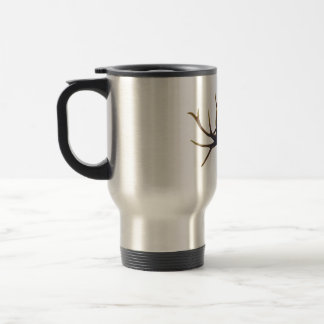 Bull elk skull side view travel mug