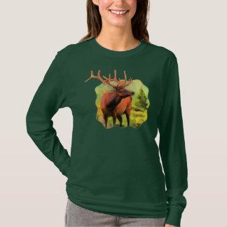 Bull Elk Wildlife Long Sleeve T-shirt