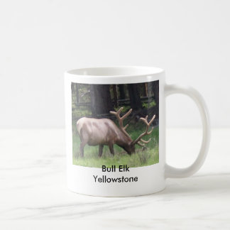 Bull Elk, Yellowstone Basic White Mug