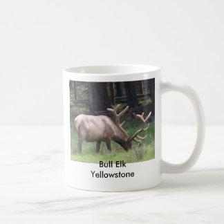 Bull Elk, Yellowstone Basic White Mug