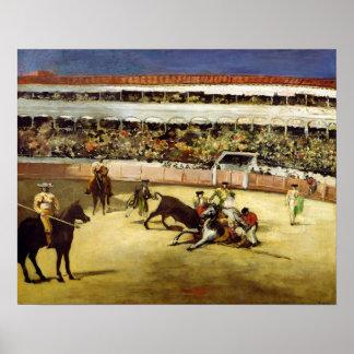 Bull Fight, 1865 Poster