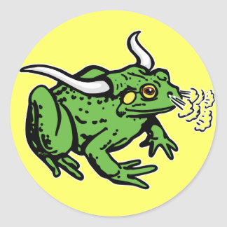 Bull Frog by Mudge Studios Round Sticker