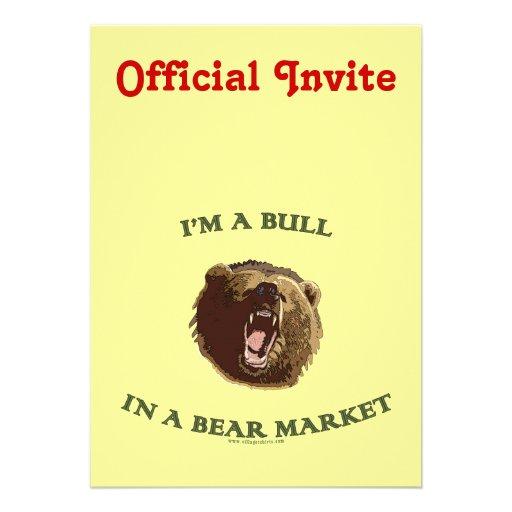Bull in a Bear Market Personalized Invite
