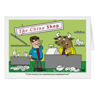 Bull in a China Shop Card