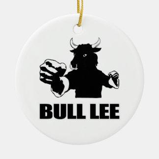 Bull Lee Ceramic Ornament