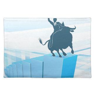 Bull Market Business Success Concept Placemat