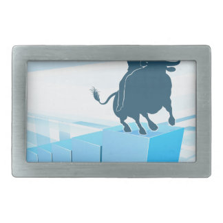 Bull Market Business Success Concept Rectangular Belt Buckles