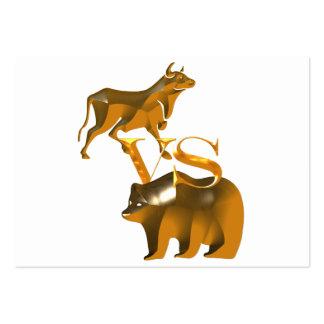 Bull Market Vs Bear Market Pack Of Chubby Business Cards