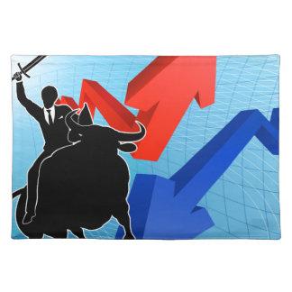 Bull Market Winner Concept Placemat