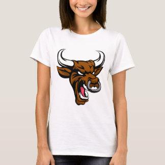 Bull Mean Animal Mascot T-Shirt