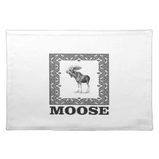 bull moose in a box placemat