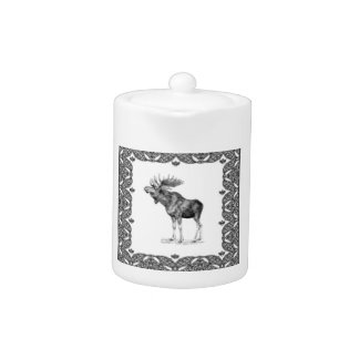 bull moose in a frame