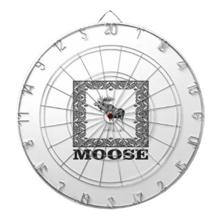 bull moose in a frame dartboard