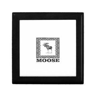 bull moose in a frame gift box