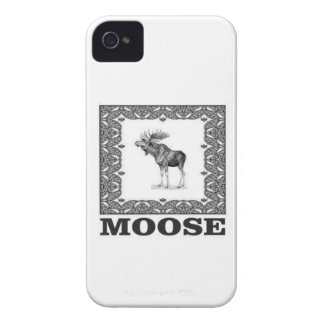 bull moose in a frame iPhone 4 case