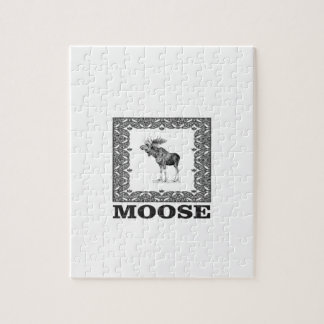 bull moose in a frame jigsaw puzzle