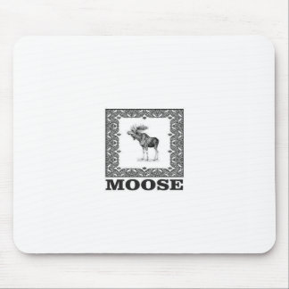 bull moose in a frame mouse pad