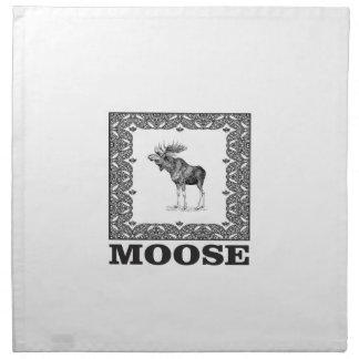 bull moose in a frame napkin