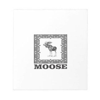 bull moose in a frame notepad