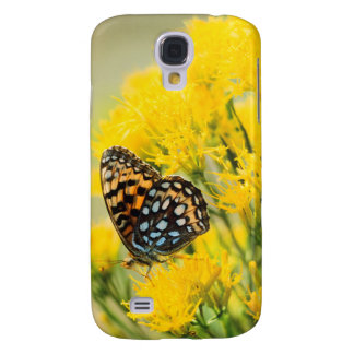 Bull Moose jousting in field with Cottonwood Trees Samsung Galaxy S4 Covers