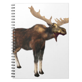 Bull Moose Looking Left Notebooks