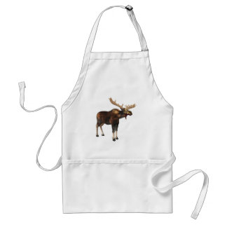 Bull Moose Looking Left Standard Apron