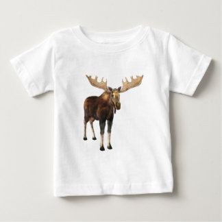 Bull Moose Looking to the Front Baby T-Shirt