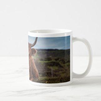 Bull on Grass Basic White Mug