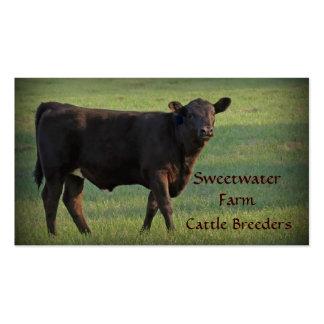 Bull or Cattle Farm Standard Business Card 2