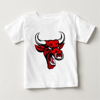Bull Red Mean Animal Mascot Baby T-Shirt