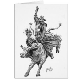 Bull Rider Card