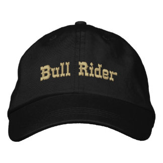 Bull Rider Embroidered Hat