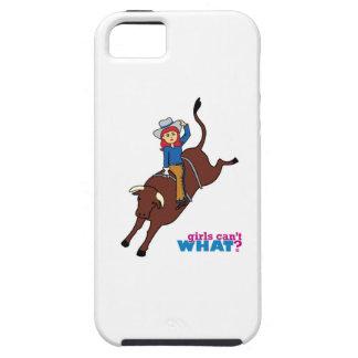 Bull Rider Light/Red iPhone 5 Case