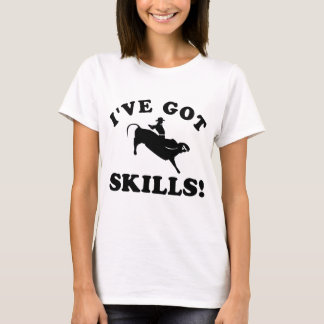 bull riding vector designs T-Shirt