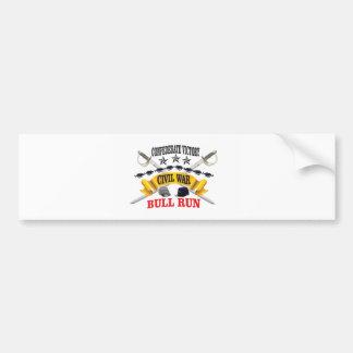 bull run of civil war bumper sticker