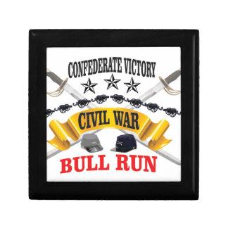 bull run of civil war small square gift box