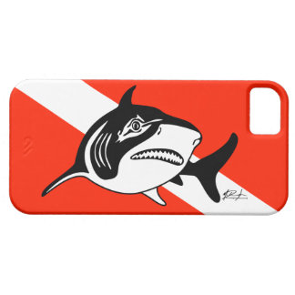 Bull Shark Dive Flag iPhone Case