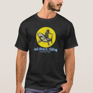 Bull shark riding funny t-shirt