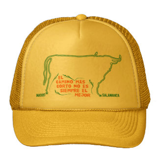 Bull silhouette with Spanish text and custom towns Cap