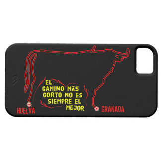 Bull silhouette with Spanish text and custom towns iPhone 5 Cover