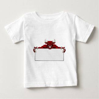 Bull Sports Mascot Sign Baby T-Shirt