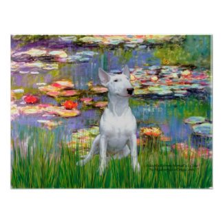 Bull Terrier 1 - Lilies 2 Poster