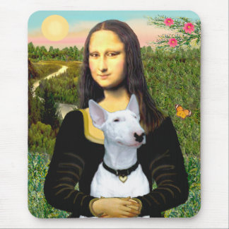 Bull Terrier 1 - Mona Lisa Mouse Pad