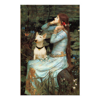 Bull Terrier 1 - Ophelia Seated Poster