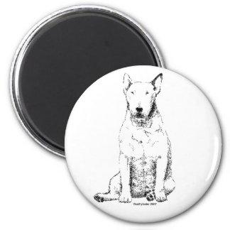 Bull Terrier 6 Cm Round Magnet