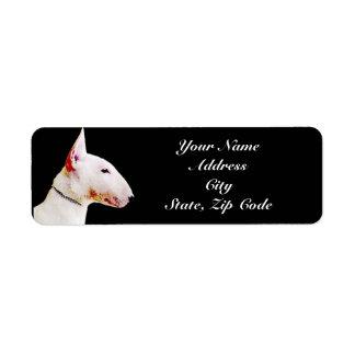 Bull Terrier Address Labels