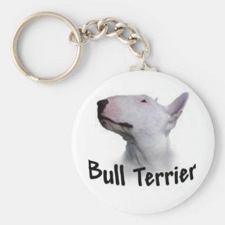 Bull Terrier Basic Round Button Key Ring