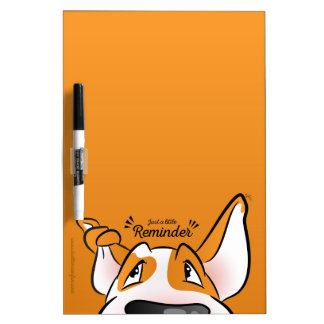 Bull Terrier Cartoon Dry Erase Board