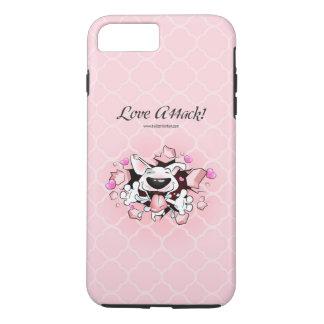 "Bull Terrier Cartoon iPhone Case ""Love Attack"""