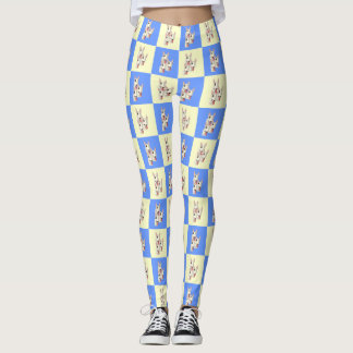 Bull Terrier Checkered Leggings